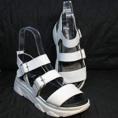 Модные босоножки спортивного стиля женские Evromoda 3078-107 Sport White