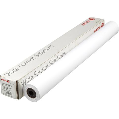 Бумага широкоформатная Xerox Inkjet Matt Coated (длина 45 м, ширина 1067 мм, плотность 90 г/кв.м, белизна 145% CIE, диаметр втулки 50,8 мм)