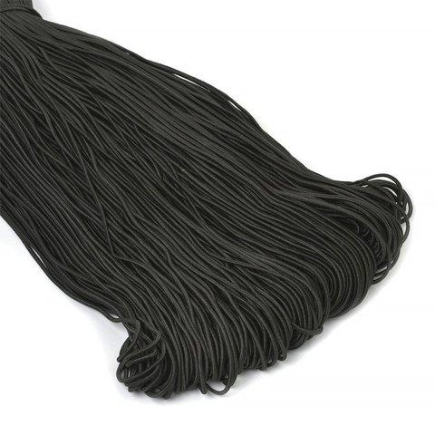 Резинка шляпная 1 мм черная (1 метр)