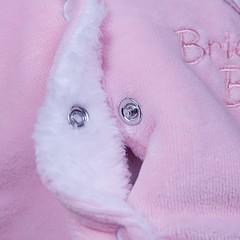Демисезонный велюровый комбинезон с шапкой Brilliant  (розовый)