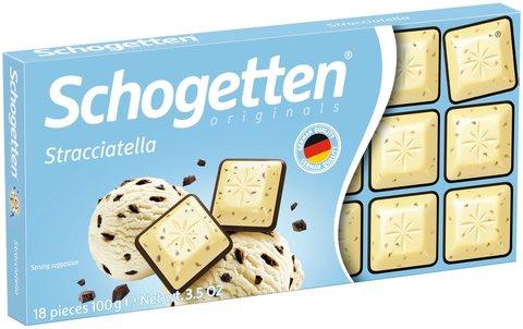 Шоколад белый Schogetten Stracciatella со вкусом страчателла 100 гр