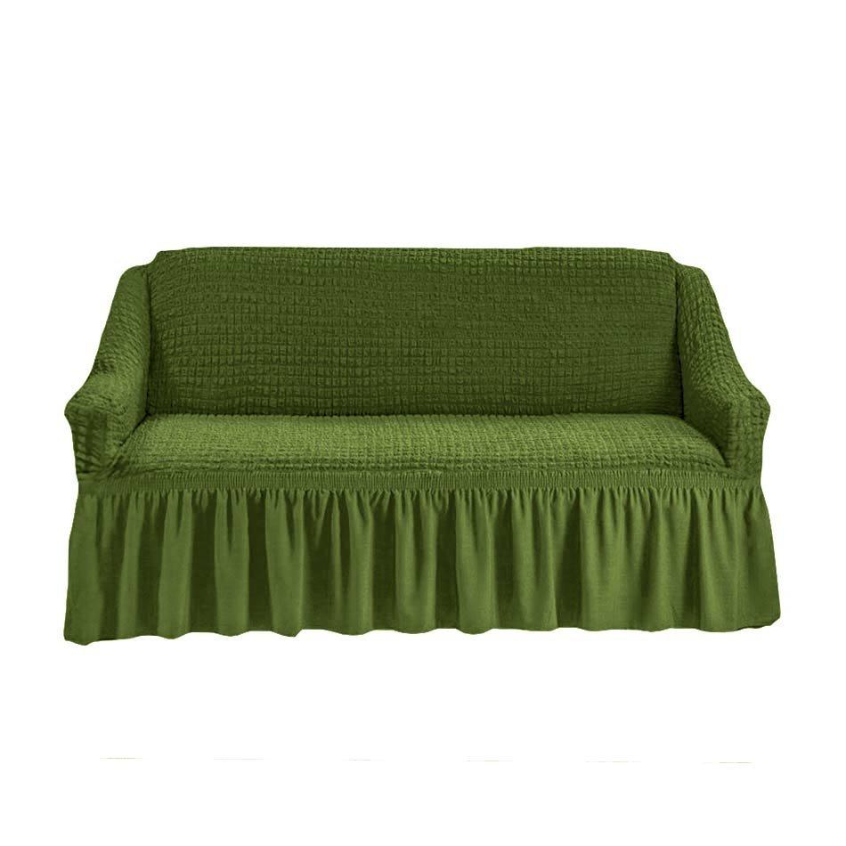 Чехол на двухместный диван, изумруд
