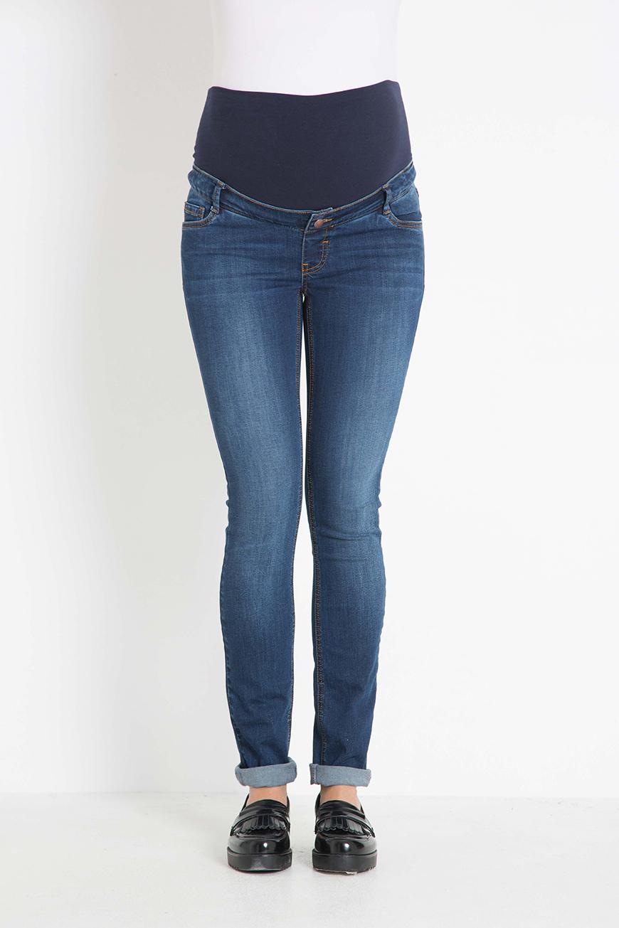 Фото зауженные джинсы для беременных GEBE, из эластичного денима от магазина СкороМама, синий, размеры.
