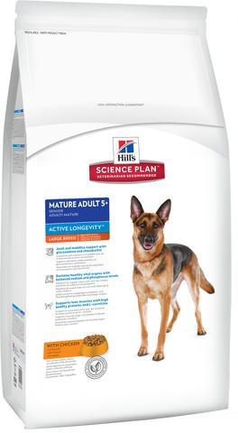 Корм для собак Hill's (12 кг) Science Plan Canine Mature Adult 5+ Active Longevity Large Breed with Chicken