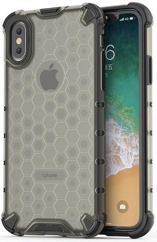 Противоударный чехол на iPhone X и XS от Caseport, серии Honey, темный корпус