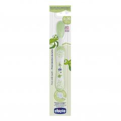 Chicco. Зубная щетка с эргономичной ручкой, 6м+, зеленый