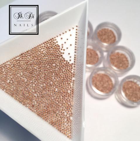 Бульонки металл розовое золото (1 мм) 5гр