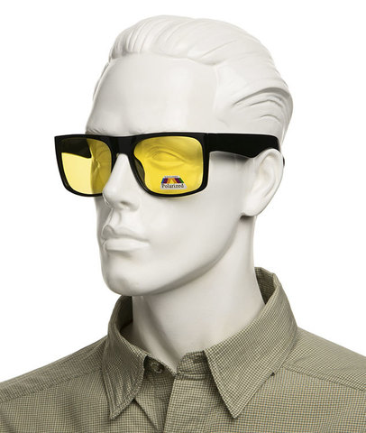 Пласиковые очки для супернакомарника и не только. Артикул А01 - желтые очки