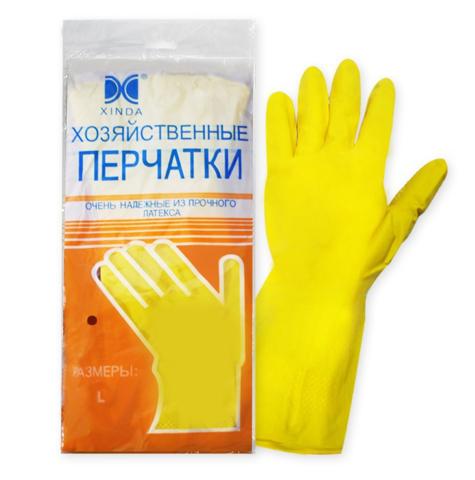 Перчатки резиновые Латекс L
