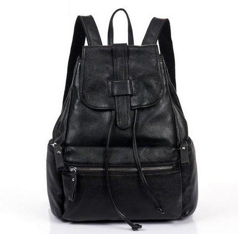 Женский кожаный рюкзак SAC Design Black
