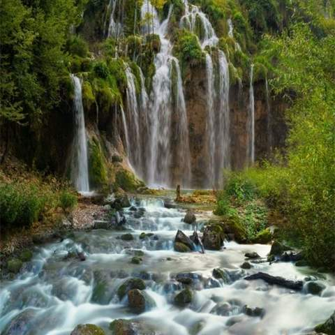 Алмазная Мозаика 30x40 Тропический водопад