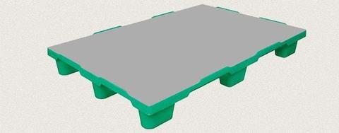 Поддон пластиковый сплошной 1200x800x150 мм. Цвет: Зеленый