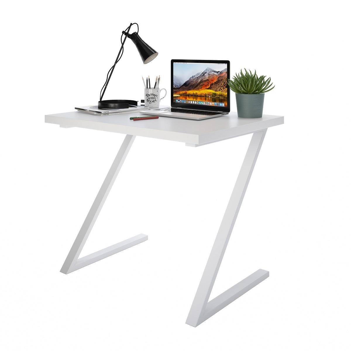 Письменный стол ДОМУС СП012 белый/металл белый
