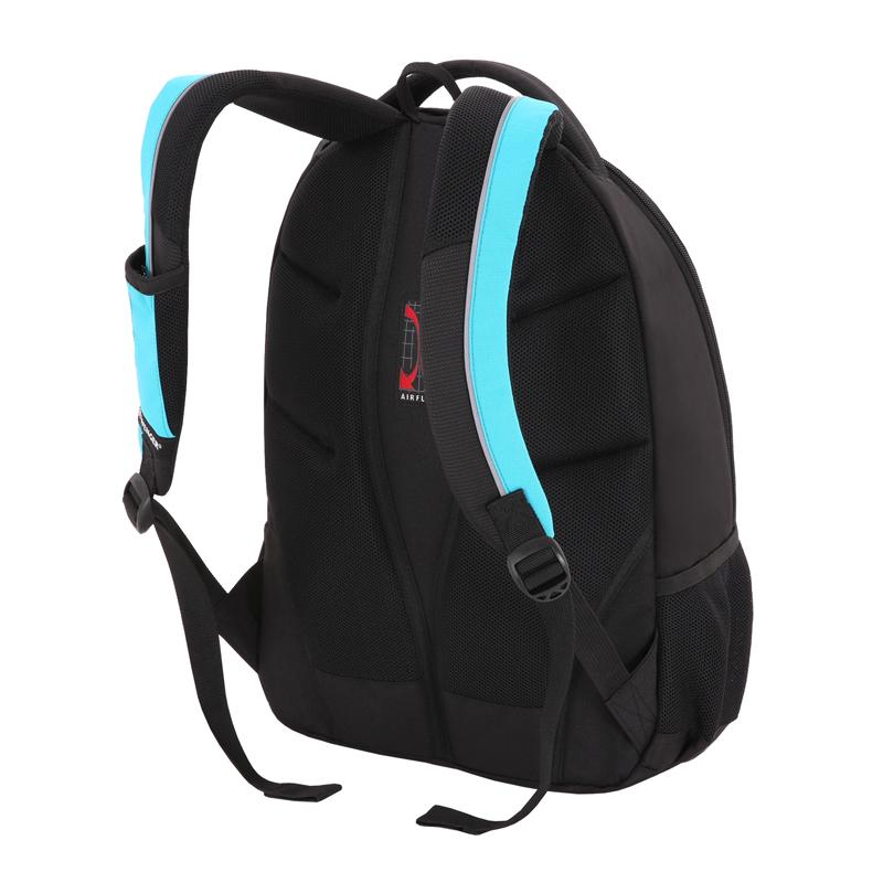 Городской рюкзак WENGER, цвет черный/синий, 45х33х19 см. 28 л. (11862315-2)
