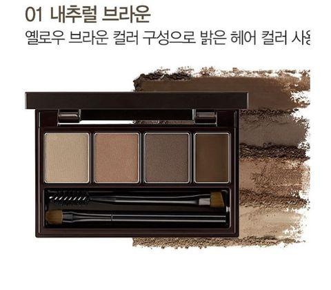 Набор для макияжа бровей СМ EYE Eco Soul Multi Brow Kit 01 Natural Brown 3,8 гр