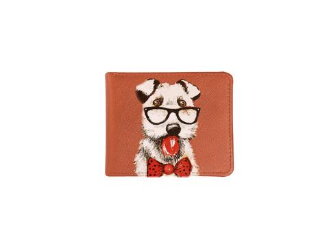 """Купюрница """"Пес с бабочкой"""", рыжая"""