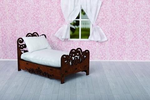 ЯиГрушка Спальня (кровать с подушкой и матрасом)(коричневый)