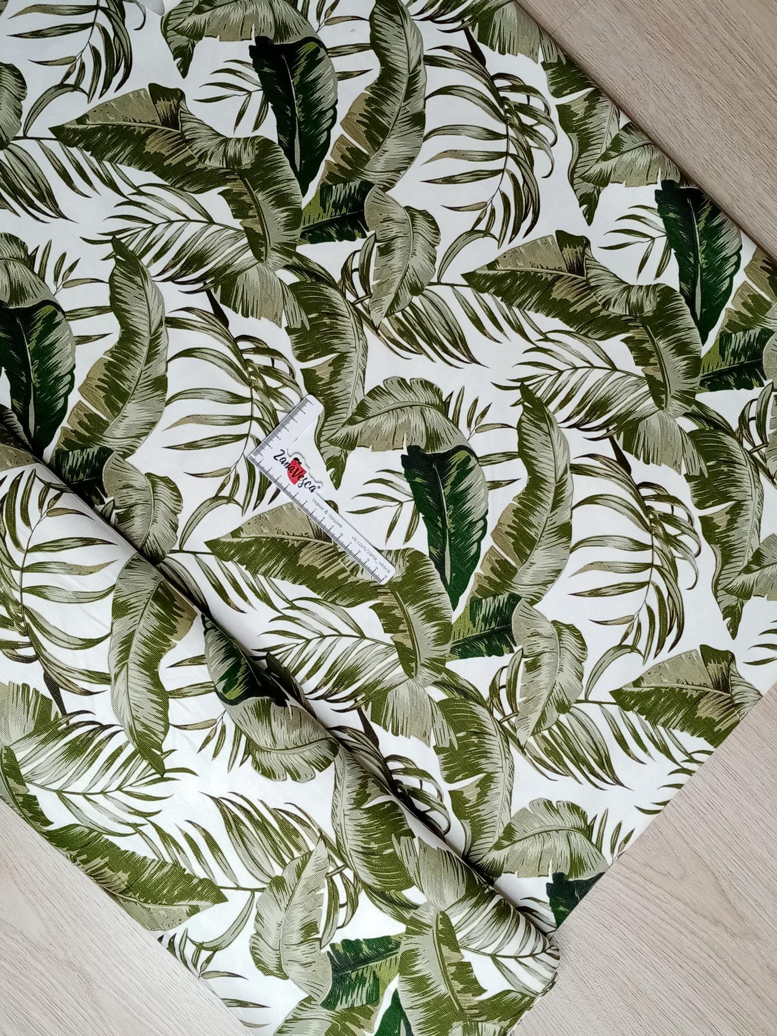 Ткань duck с тефлоновой пропиткой Тропическая зелень