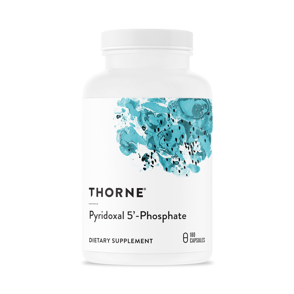 Витамин B6, Пиридоксаль-5-фосфат, Pyridoxal 5'-Phosphate, Thorne Research, (180 капсул)