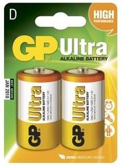 Батарейки GP 13AU-U2 Ultra alkaline LR20, D, 2шт блистер 2/20/