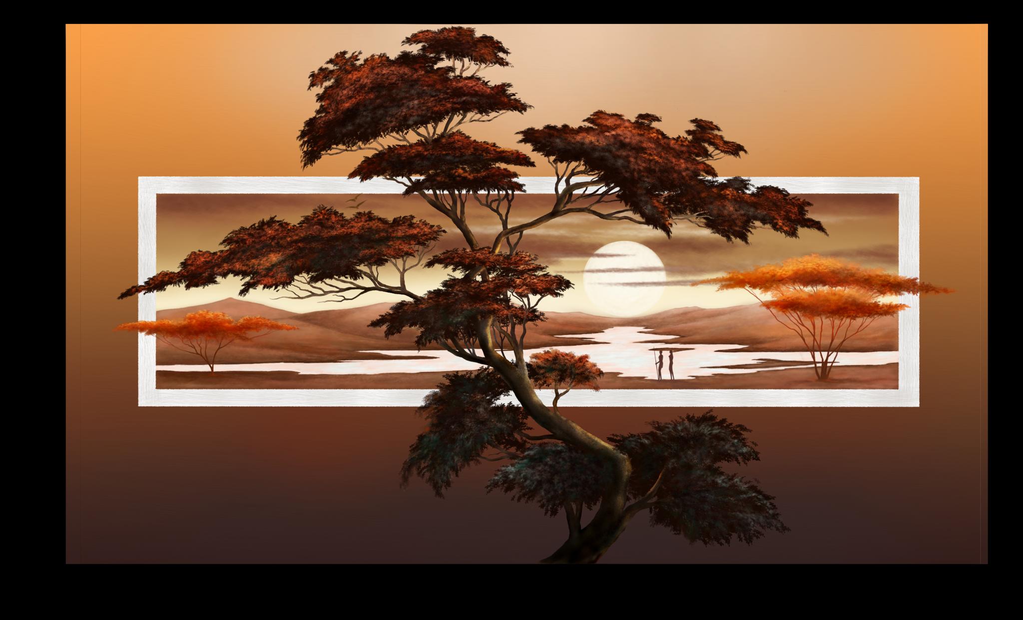 """Постеры Постер """"Закат над Африкой"""" п14.png"""