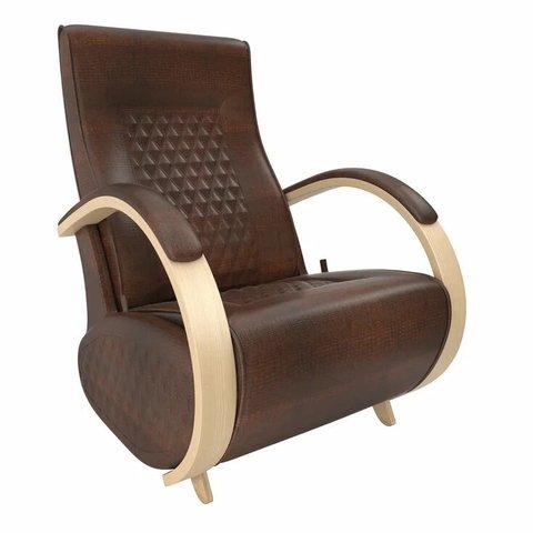 Кресло-глайдер Balance Balance-3 с накладками, натуральное дерево/Antik Crocodile, 014.003