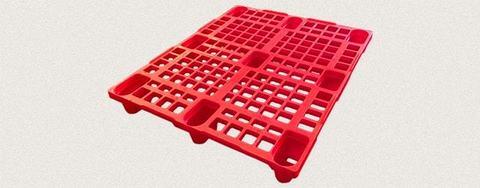 Поддон пластиковый перфорированный 1200x1000x150 мм. Цвет: Красный