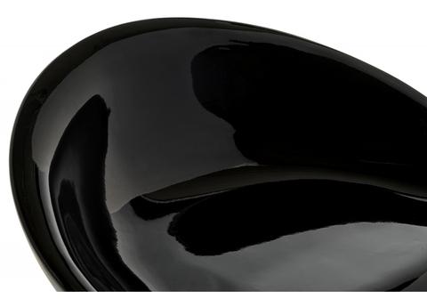 Барный стул Orion черный 40*40*75 - 96,5 Черный пластик /Хромированный металл каркас