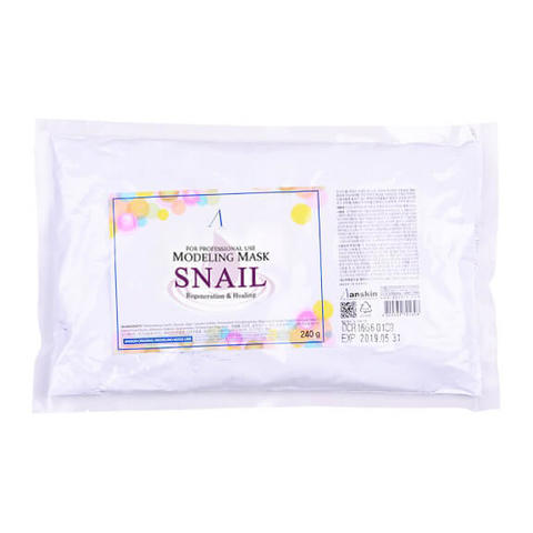 Маска альгинатная с муцином улитки регенерирующая (пакет) Anskin Snail Pearl Modeling Mask / Refill240гр