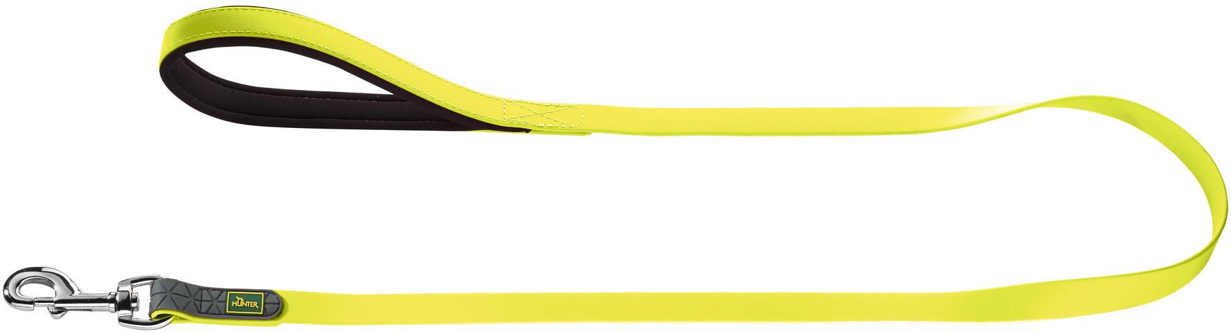 Поводки Поводок для собак, Hunter Convienience 15/120, биотановый желтый неон 63070.jpg