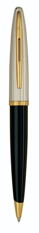 Шариковая ручка Waterman Carene De Luxe, цвет: Black/Silver, стержень: Mblue123