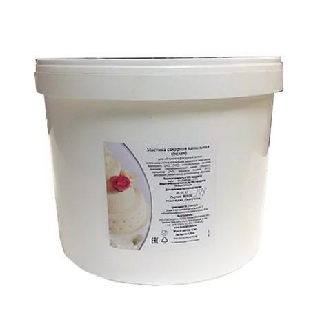 Мастика сахарная ванильная Белая, 6кг.