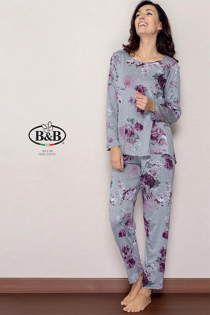 Женский домашний костюм с цветами B&B