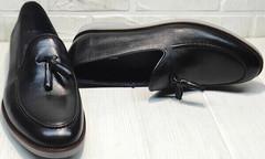 Черные туфли мужские кожаные классические Luciano Bellini 91178-E-212 Black.