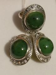 Луаза (кольцо + серьги из серебра)
