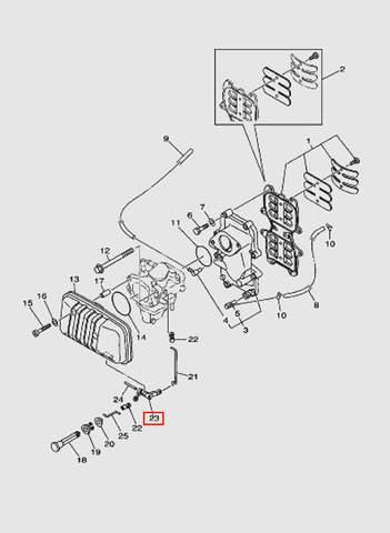 Рычаг газа для лодочного мотора T40 Sea-PRO (4-23)