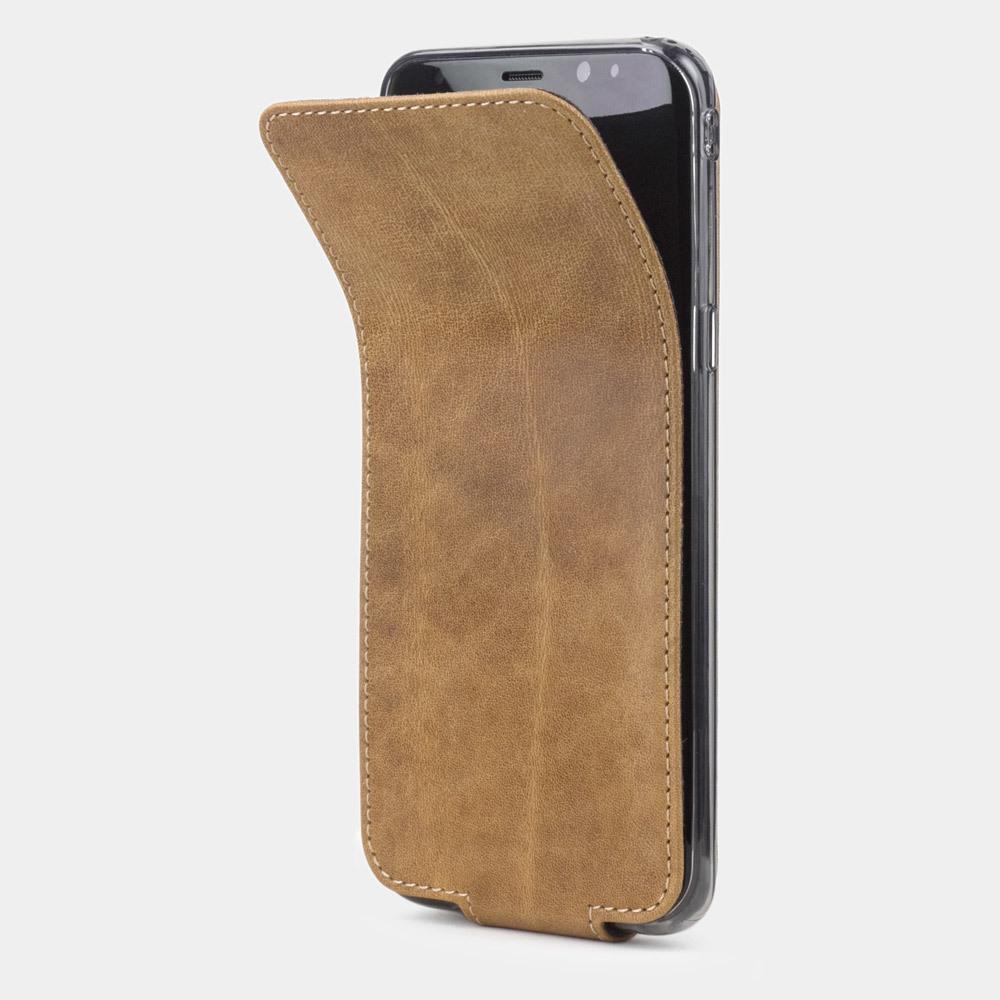 Чехол для Samsung Galaxy S8 Plus из натуральной кожи теленка, цвета винтаж