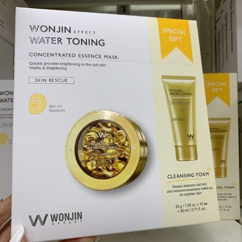 WONJIN Water Toning набор маска + пенка