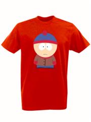 Футболка с принтом мультфильма Южный парк (South Park) красная 008
