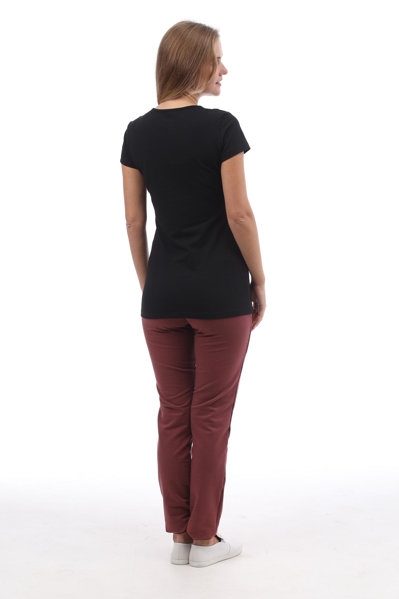 Спортивные брюки для беременных 09966 бордовый