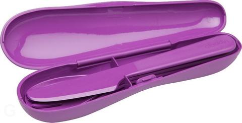 Набор из 3 столовых приборов в футляре Aladdin, фиолетовый