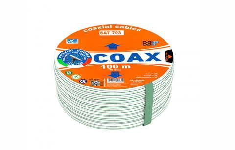 Коаксиальный телевизионный кабель SAT 703 AVS Electronics (100м)