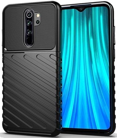 Чехол Carbon для Xiaomi Redmi Note 8 Pro серия Оникс | черный