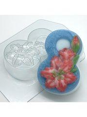 8 марта - Лилии, форма для мыла пластиковая