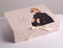 Коробка складная подарочная «Нежность», 31 × 24,5 × 9 см, 1 шт.
