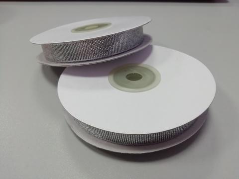 Лента парчовая Серебро 12 мм, 27м