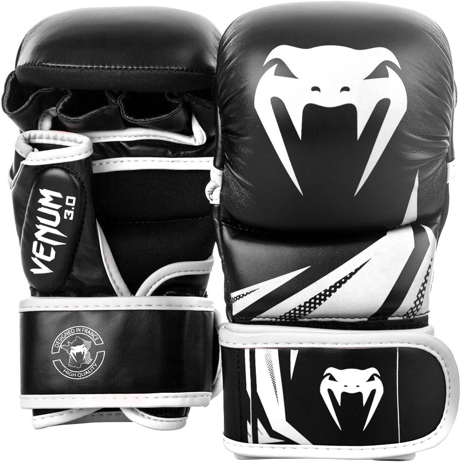 ММА перчатки Перчатки для ММА Venum Challenger 3.0 Sparring Gloves Black/White 1.jpg