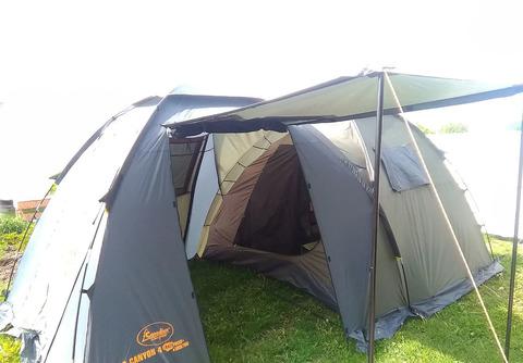 Палатка Canadian Camper GRAND CANYON 4, цвет forest, вход сбоку.