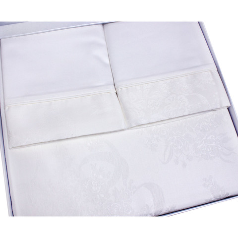 Постельное белье Josephine кремовый жаккард deluxe TIVOLYO HOME Турция