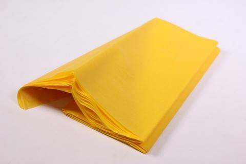 Бумага Тишью желтая 50*65 см, 10 листов